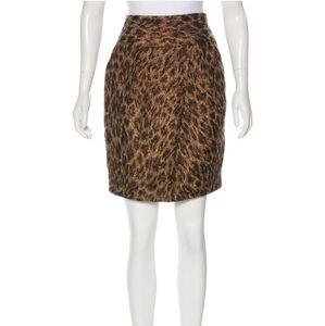 Adrienne Vittadini Sz M Metallic Animal Skirt